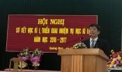Đ/c Lê Quang Thùy- Phó Trưởng phòng GD&ĐT báo cáo sơ kết kì I