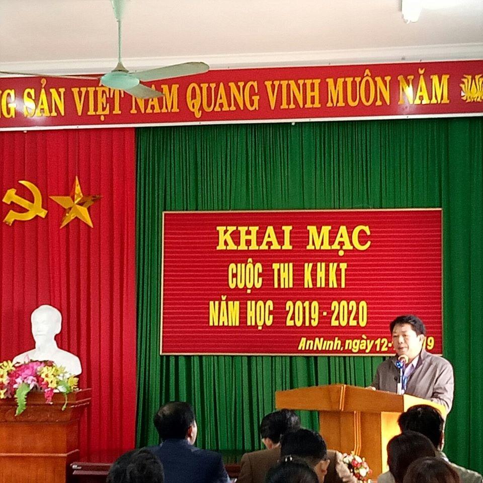 Đ/c Võ Thái Hòa, Trường phòng GD&ĐT khai mạc Cuộc thi